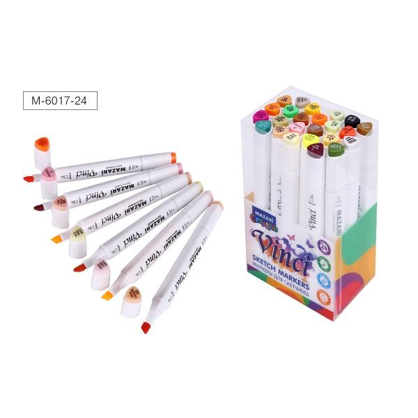 Набор маркеров для скетчинга двусторонние VINCI, 24цв., Autumn colors (цвета осени), 1.0-6.2мм