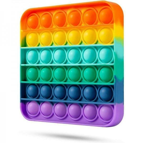 """Антистресс-игрушка пузырчатый """"Квадрат"""" разноцветный, 12,5*12,5, разноцветный"""