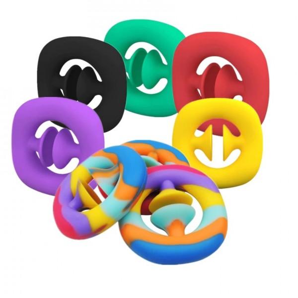 Антистресс-игрушка Snappers/Снапперс/Эспандер для детей, разноцветный