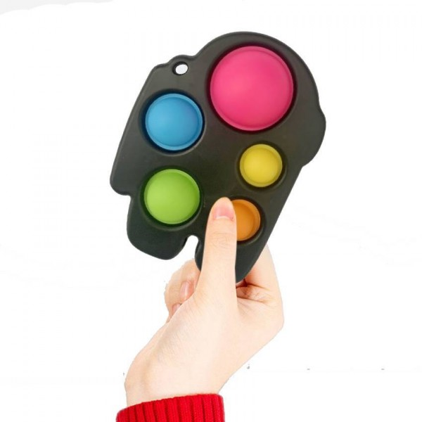 Антистресс брелок-игрушка Pop It Among Us с карабином, разноцветный
